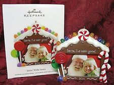 HALLMARK 2011 ORNAMENT PHOTO HOLDER~SITTIN' WITH SANTA