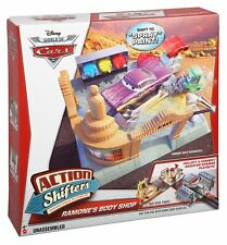 Disney World Of Cars Action Shifters Connectable Playsets Ramones Body Shop NEW