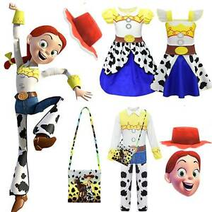 Kids Girls Toy Story 4 Jessie Fancy Dress Party Jumpsuit Cosplay Costume Outfit-