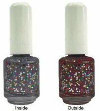 UV BIG Glitter Nail Polish Sequined Silver to Vamp Red