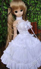 1/4 bjd dollfie dream doll MDD/MSD outfits white Dress Set #SEN-92MD ship US