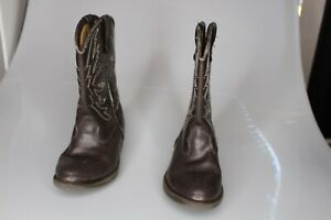 Smart Fit Skid Resistant Youth Size 91/2 Western Cowboy Boots Brown