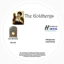 THE GOLDBERGS - 429 Shows Old Time Radio In MP3 Format OTR On 3 CDs