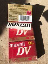 Lot of 3 Brand New Sealed Maxell Mini Dv 60 Min Digital Video Tapes Dvm60Se