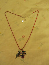 "Claire's Girls Pink Chain & Charms Necklace - 20-23"" long"