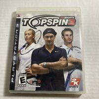 Top Spin 3 [Playstation 3] Ps3 Complete Video Game Free Ship Good Condition