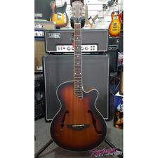Martinez Jazz Hybrid Acoustic Electric Small Body Cutaway Guitar - Sunburst