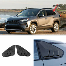 Rear Window Side Louvers Vent trim For Toyota RAV4 2019 Accessories