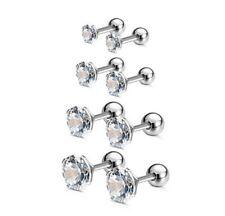 Lower Ear Bars Earrings Ring Stud Piercing Surgical Steel Labret Lip Clear Bar