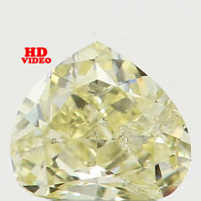 0.14 Ct Natural Loose Diamond Heart Shape Yellow Color 3.40X3.00X1.90MM I2 N5397