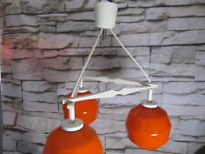 Vintage Triangel Lampe aus Holz mit Glasschirmen - triangle lamp from the 60s