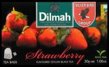 100 BAGS Dilmah Strawberry flavoured black Fun Tea Ceylon alla fragola tè Express