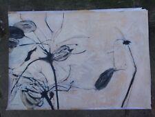 VINTAGE N McFARLAND ORIGINAL MIXED MEDIUM FLOWER PAINTING ON PAPER