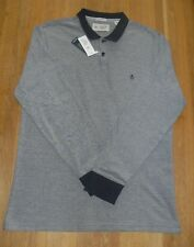 "Original Penguin Mens Long Sleeve Grey Polo Top Size UK XL 41 - 43"" Chest"