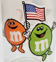 Vintage M&M's Los Angeles Olympic Collectible Glass Candy Jar Mars Inc. 1983