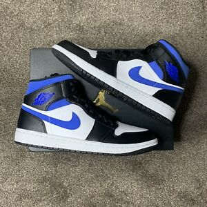Air Jordan 1 Mid White Racer Blue - Size 8UK - Brand New With Box - FAST SHIP ✅