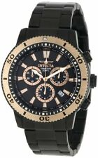 Invicta 1206 Men's Invicta II Chronograph Black Ion Plated Stainless Steel Watch