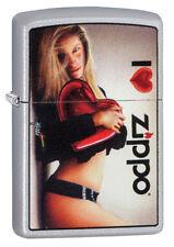 ZIPPO Feuerzeug I LOVE ZIPPO Design by MAZZI Herz sexy Girl NEU OVP Sammlerstück