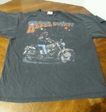 Rebel Spirit Motorcycle T shirt Black Mens Large