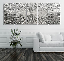 Extra Large Silver Contemporary Abstract Metal Wall Art Sculpture - Jon Allen