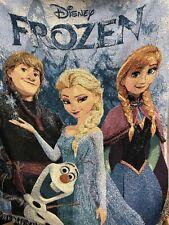 Disney Frozen Elsa Anna Kristoff & Olaf Fleece Blanket Throw 46 x 60 Northwest
