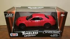 2018 Dodge Challenger SRT Hellcat Red 1:24 Diecast- Motormax - Free Shipping