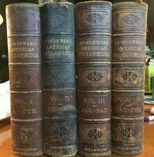 "1877 - **FULL SET 4-VOL  ""THE CONDENSED AMERICAN CYCLOPEDIA"""