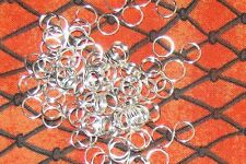 40 PCs Silver Plated 6mm Double Loops Open Jump Rings/Spiral Useful Findings