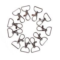 10pcs/set Silver Metal Lanyard Hook Swivel Snap Hooks Key Chain Clasp Clips UK