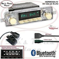RetroSound Hermosa-IV Radio/Bluetooth/USB/Mp3/3.5mm AUX-In 4 ipod 304-68 VW Bug