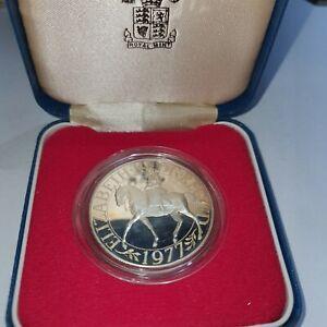 UK 1977 SILVER JUBILEE SILVER PROOF CROWN