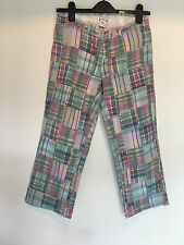 SIZE 0 ABERCROMBIE & FITCH CHECK TROUSERS BEACH/SUMMER/HOLIDAY/TOWIE  RRP £50