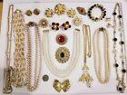 Vintage Mod Jewelry LOT Boucher Trifari 14kgf LCI Napier Sarah Coventry Pell