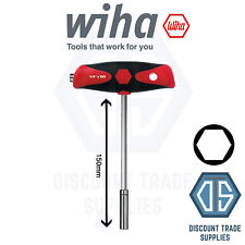 Wiha Screwdriver With T-Handle and two bit holders ComfortGrip, Magnetic 26179