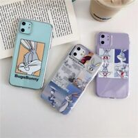 Fashion Cartoon Transparent Case For iPhone 11 Pro XS Max 7 Bugs Bunny Case Cute