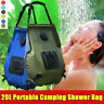 20L Solar Energy Heated Shower Bag Camping Water Outdoor Hiking Travel Portable
