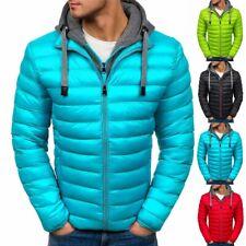 Mens Hoodie Padded Coat Jacket Puffer Bubble Warm Coats Zip Up Outwear Winter