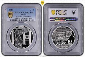 2019 France 10 Euros Victory of Samothrace - PCGS PR70DCAM
