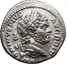 CARACALLA 213AD Rare Silver Ancient Roman Coin Mars Ares War God Cult  i49836