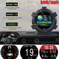 GPS Inclinometer Angle Tilt Slope Meter Indicator Level Gauge Speed Alarm