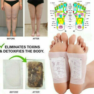 10Pcs Foot Pads Detox Patches Organic Herbal Cleansing Patch Health Care Pad