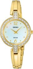 Seiko SUP290 SUP290P9 Ladies Solar Crystal Watch NEW Mother-of-Pearl RRP $495.00