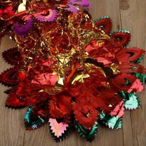 Multi Colour Christmas Foil Ceiling Garland Hanging Decoration QUANLIT Xmas W5S2