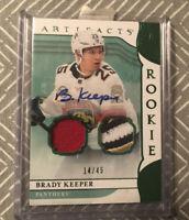 Brady Keeper 19/20 Artifacts Emerald Rookie Dual Jersey Patch Auto #14/45