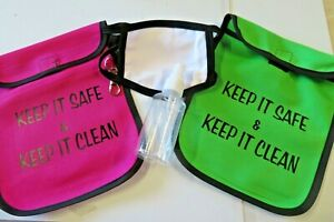 Face Mask Storage Bag, - personalised + wipes & solution if required