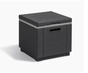 Keter Allibert California Ice Cube Outdoor Cooler, Graphite, 42 x 42 x 41 cm