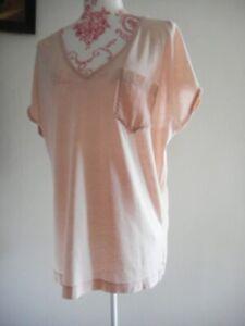 DRYKORN FOR BEAUTIFUL PEOPLE fließende Bluse GR XL 42 Schlupfbluse Puder T-Shirt