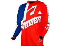 Maillot motocross ANSWER Syncron bleu / blanc / rouge 2020