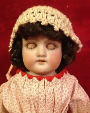 "Antique 15"" 370 Armand Marseille Bisque Doll - Shoulder Head - Leather Arms"