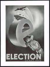 1950s Vintage 1951 Election Grand Prix Watch Mid Century Modern Art Print AD .